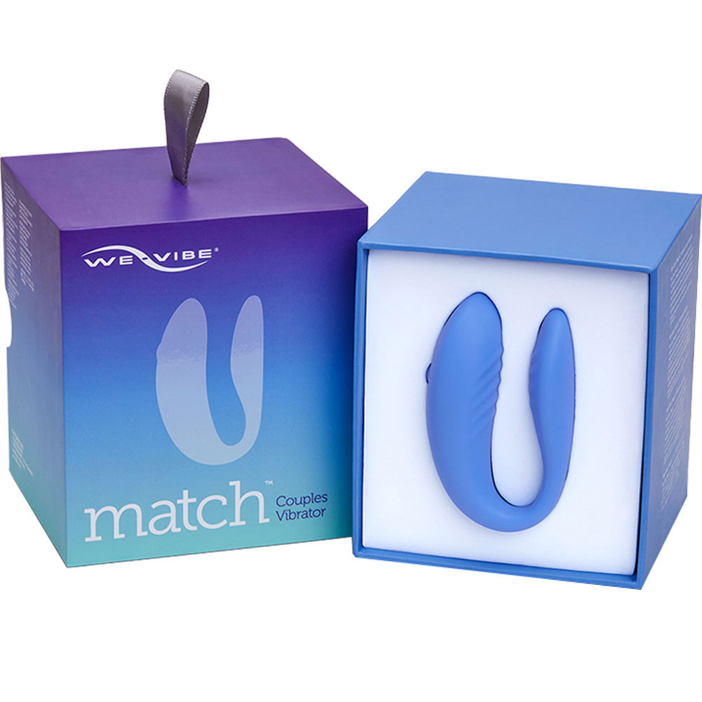 We-Vibe Match Rechargeable Couples Vibrator with Wireless Remote Periwinkle - View #4