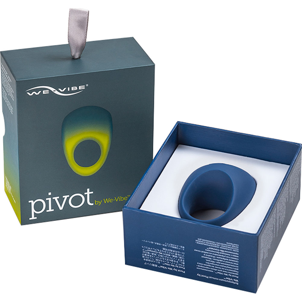 We-Vibe Pivot Smart Phone App Controlled Rechargeable Cock Ring Blue - View #4