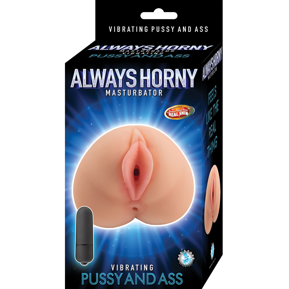 Nasstoys Always Horny Vibrating Pussy And Ass Masturbator Flesh - View #1