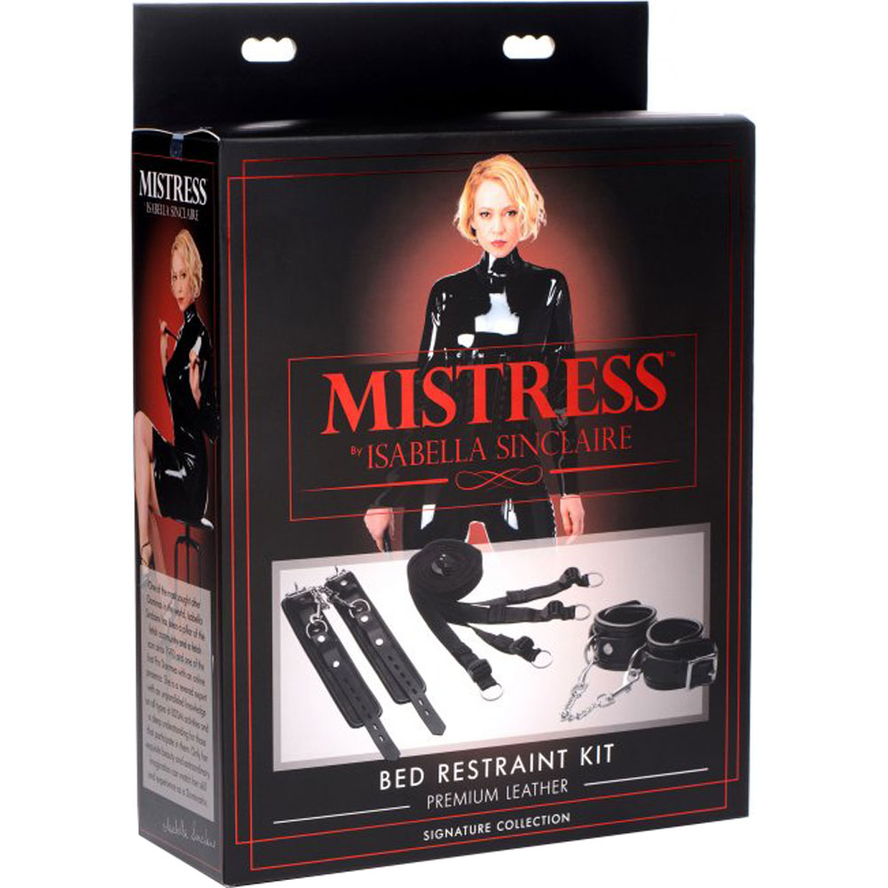 Mistress by Isabella Sinclaire Bed Restraint Kit Black - View #4