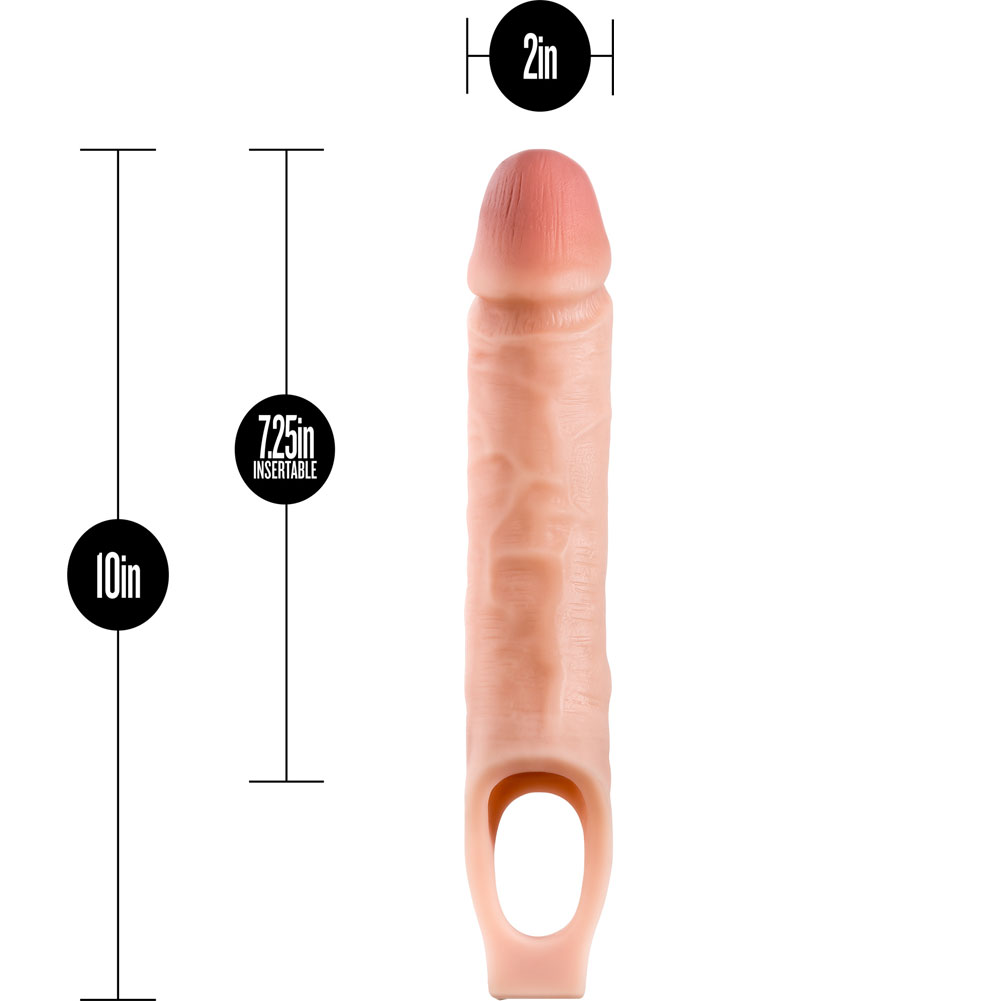 """Performance 1.5"""" Extra Length Penis Extension with Ball Strap 10"""" Vanilla - View #1"""