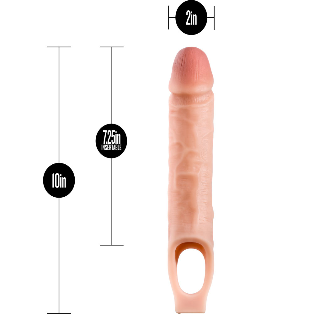 """Performance Plus 1.5"""" Extra Length Penis Extension with Ball Strap 10"""" Vanilla - View #1"""