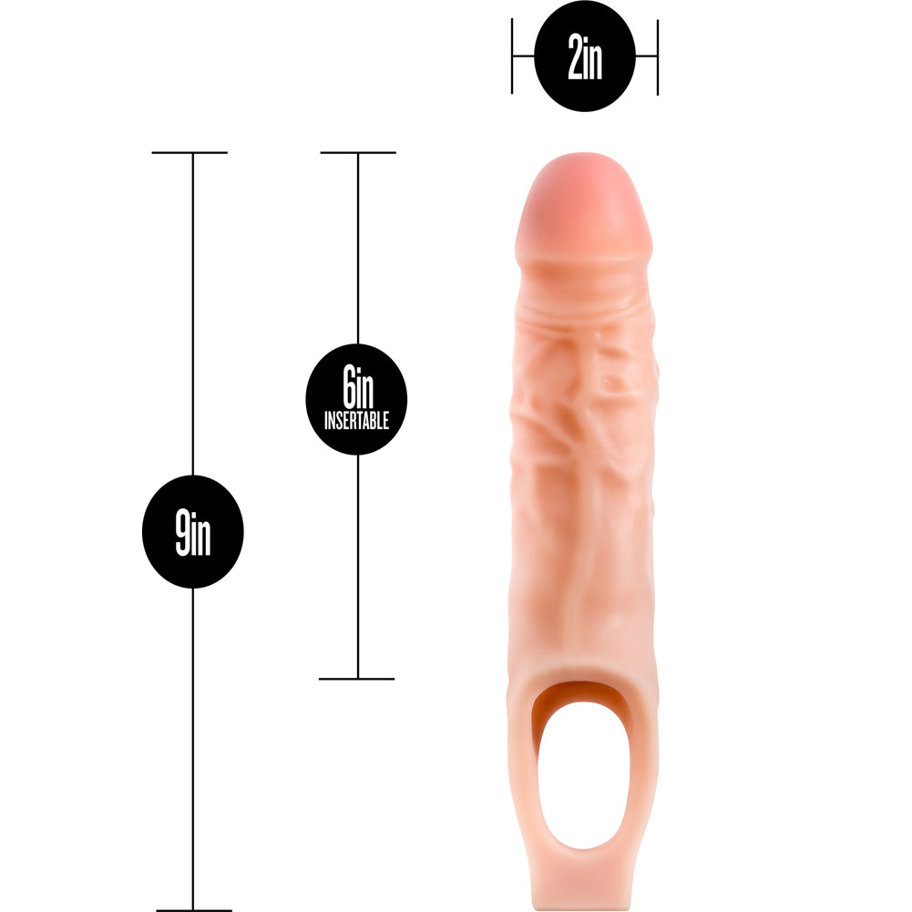 """Performance Plus 0.5"""" Extra Length Penis Extension with Ball Strap 9"""" Vanilla - View #1"""