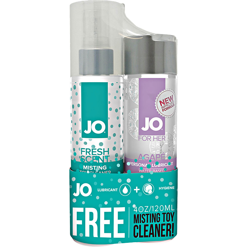 JO Agape Personal Lubricant and Toy Cleaner Set 4 Fl.Oz 120 mL - View #1