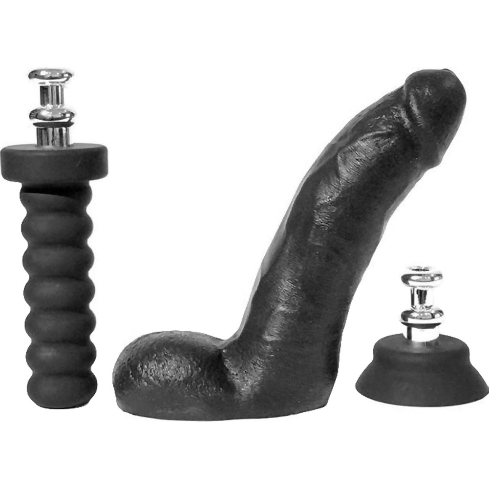 """Boneyard Cock Kit with 2 Silicone Interchangeable Bases 8"""" Black - View #2"""