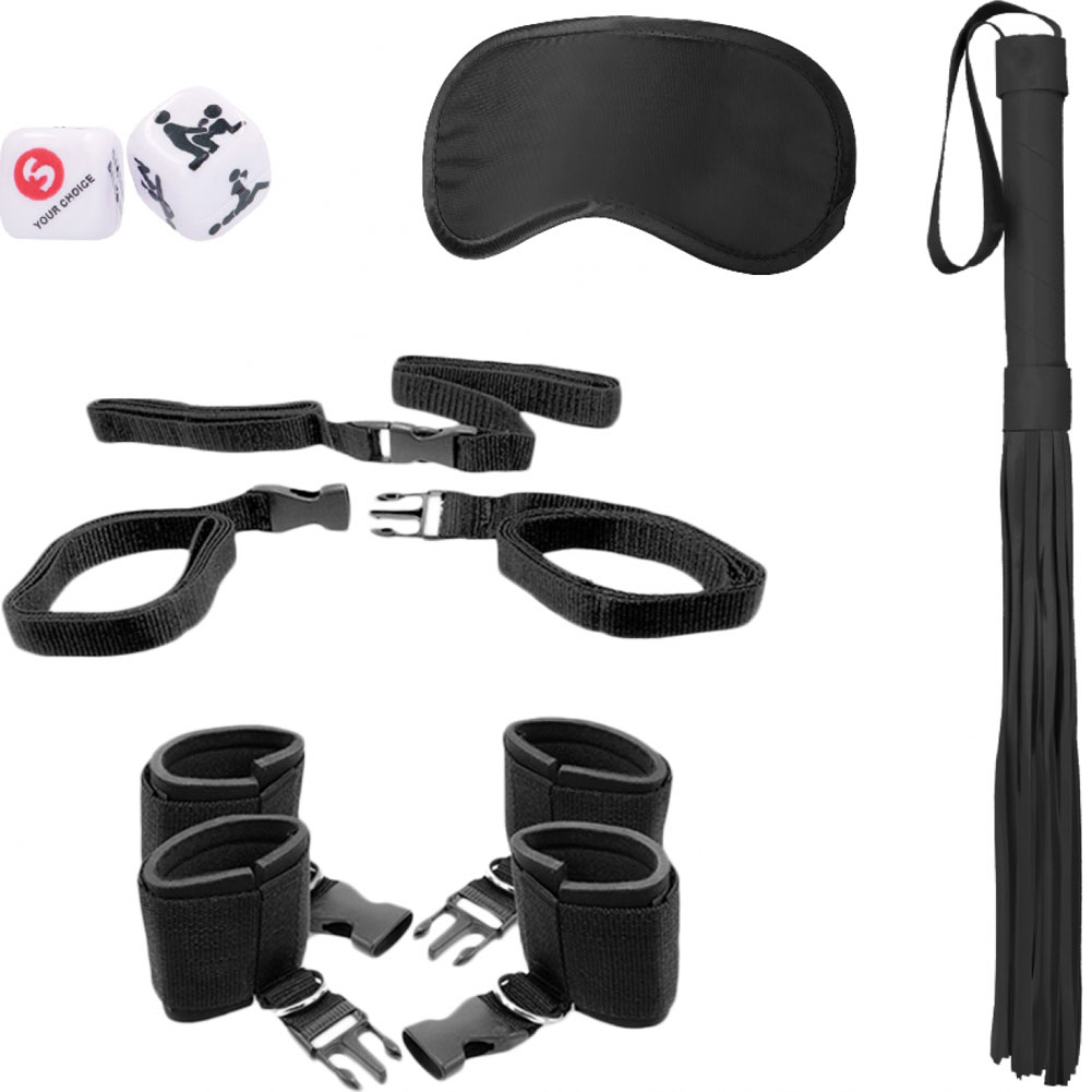 Ouch Bed Post Bindings Restraing Kit Black - View #2