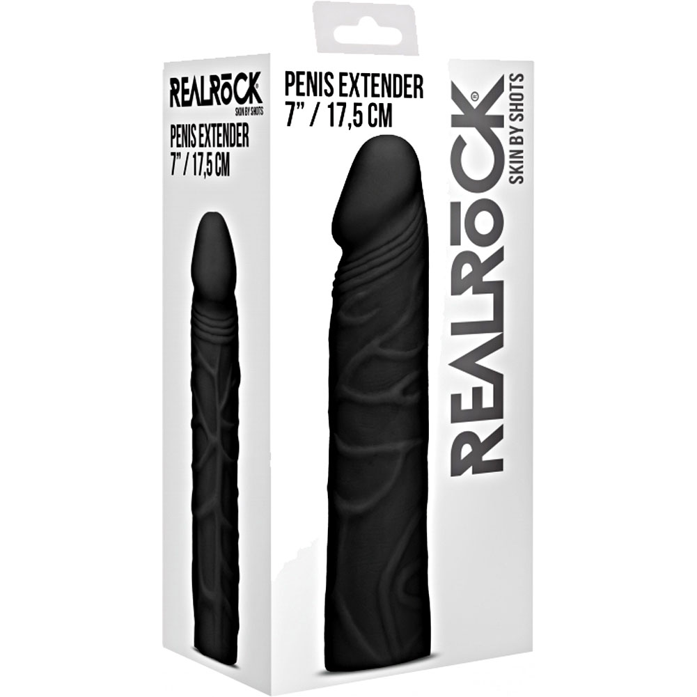 """RealRock 2"""" Extra Length Penis Extender 7"""" Black - View #4"""