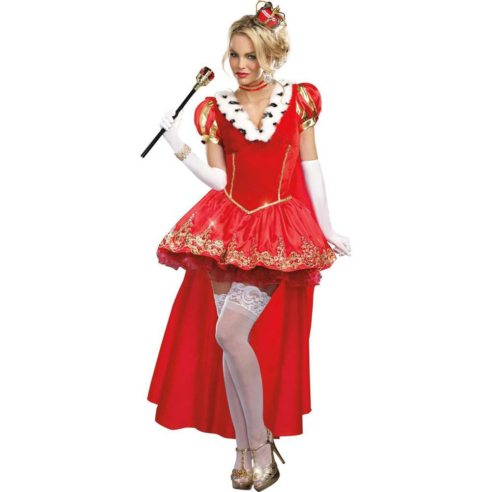 Dreamgirl the Royals Sexy French Queen Costume Extra Large Red - View #1