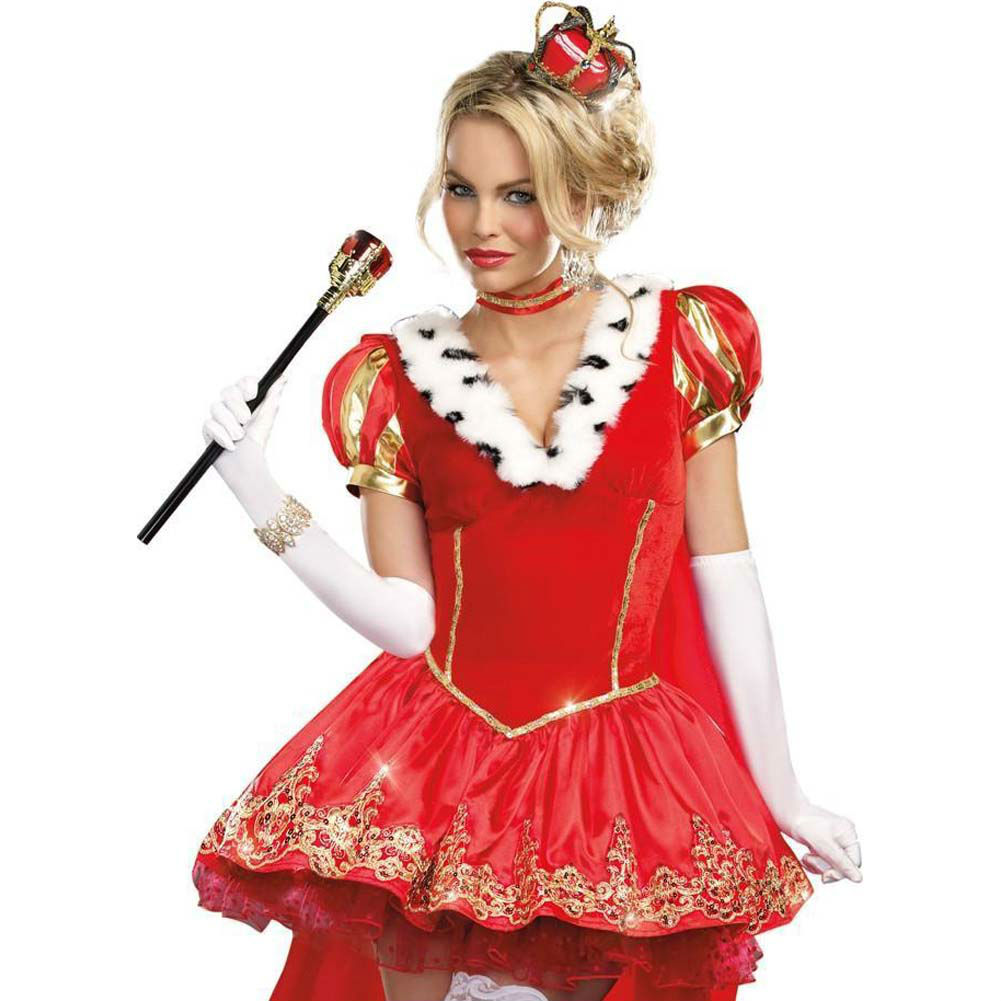 Dreamgirl the Royals Sexy French Queen Costume Extra Large Red - View #3