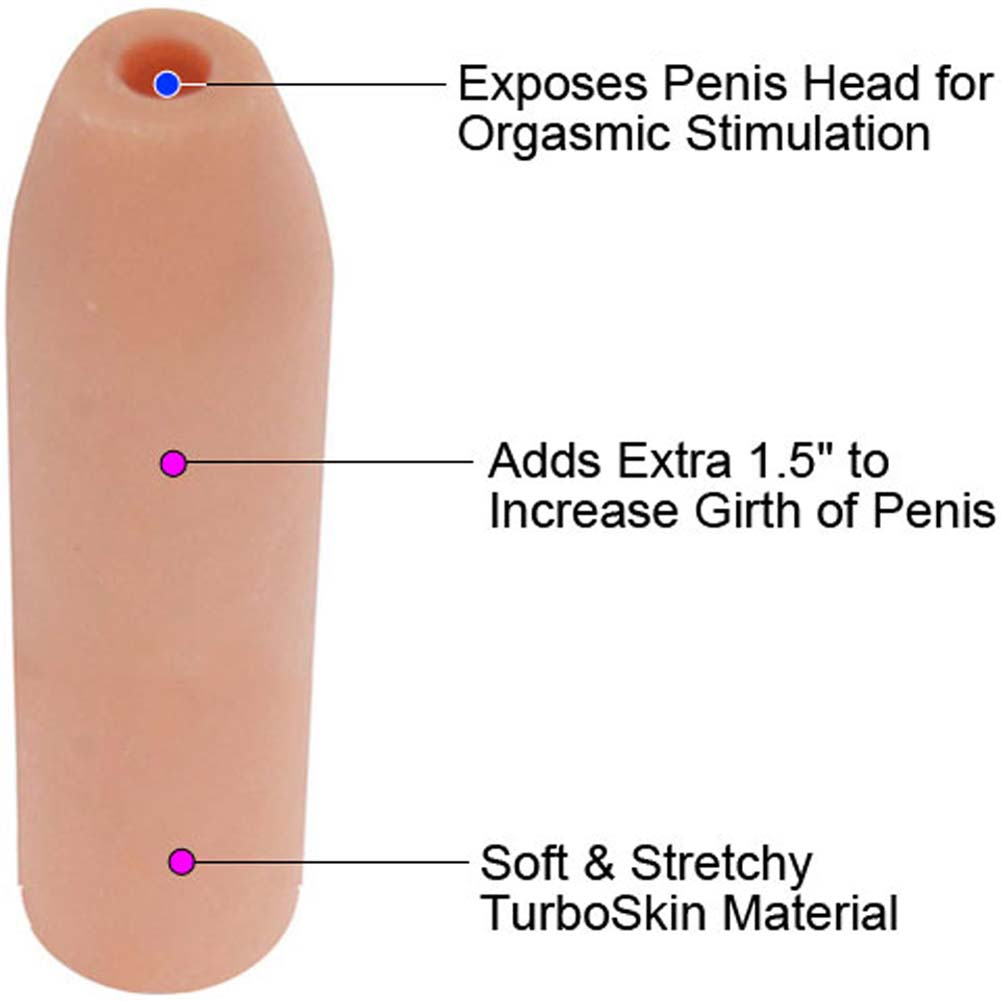 "1.5"" Extra Girth Penis Enhancer 6"" Flesh - View #1"