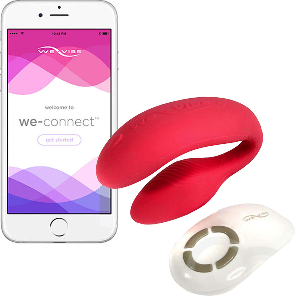 We-Vibe 4 PLUS Wireless Remote Silicone Couples Vibrator with App Control Red - View #2