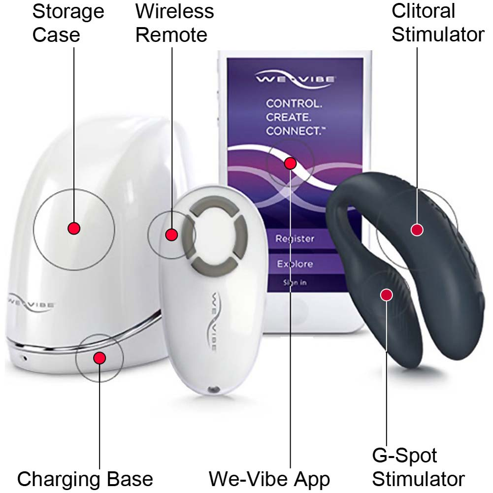 Passion Play Collection Smart Phone App Controlled We-Vibe 4 Plus and Tango Vibrators - View #1