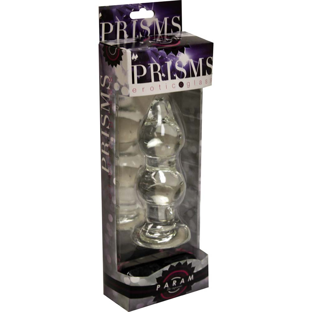 """Prisms Erotic Glass Param Anal Pleaser 5.5"""" Clear - View #3"""