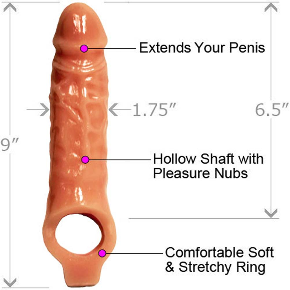 "Mamba Cock Sheath Penis Extender 6.5"" Natural - View #1"